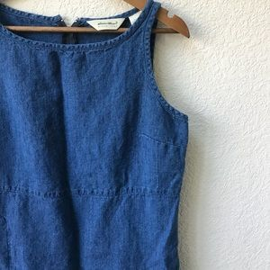 🌼Eddie Bauer🌼 Vintage Cotton Denim Knee Length